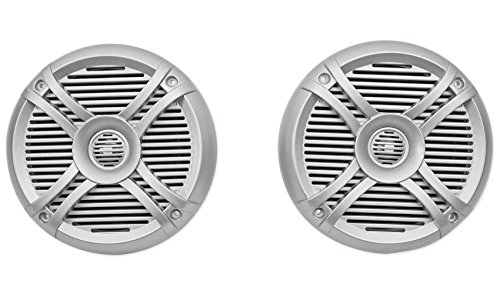 """Price comparison product image Rockville Rmsts65s Pair 6.5"""" 800W Waterproof Marine Boat Speakers 2-Way,  Silver"""