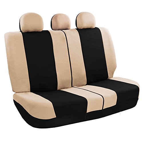 [해외]FH 그룹 FH-FB030013 라이트 & amp; /FH GROUP FH-FB030013 Light & Breezy Flat Cloth Seat Covers, Set Airbag & Split Ready- Fit Most Car, Truck, Suv, or Van