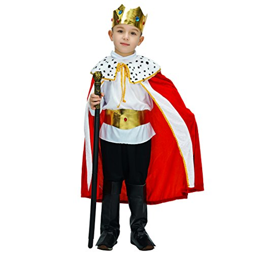 flatwhite Boy Regal King/Prince Child Costume (10-12 Years) -