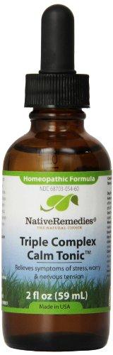 (Native Remedies Triple Complex Calm Tonic, 2 Fluid Ounce)