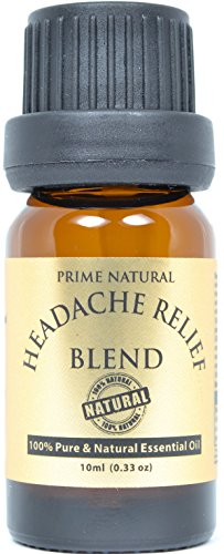 Headache Relief Essential Oil Blend 10ml/0.33oz - 100% Natural Pure Undiluted Therapeutic Grade for Aromatherapy, Scents & Diffuser - Migraine, Tension, Relaxation, Stress Relief, Anxiety Relief