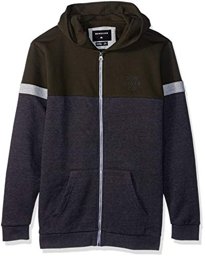 Quiksilver Boys' Big KUMANO KODO Youth Zip UP Jacket, Forest Night, XL/16