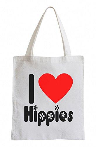 Amo Gli Hippies Bunt Fun Jutebeutel