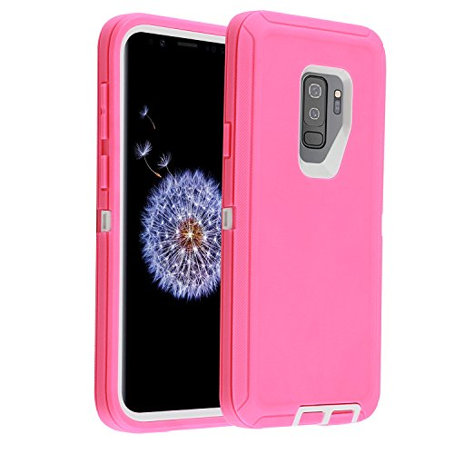 Amazon.com: Samsung Galaxy S9 Plus/S9+Case,Full Protection Heavy Duty Armor 3in1 Rugged Shockproof Drop-Proof Scratch-Resistant Tough Shell for Samsung ...