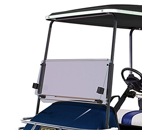 (NEW RecPro EZGO TXT 1994-2013 TINTED WINDSHIELD WITH FOLDING ACRYLIC FOR GOLF CARTS)
