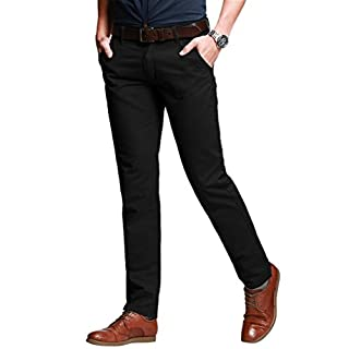 Men's black ankle trousers