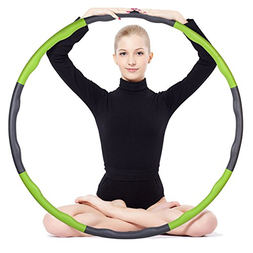 Hula hoop slimming abdomen adult male and female thin waist removable foam increased children's fitness hoop (Blue)