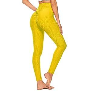 SEASUM Women's High Waist Yoga Pants Scrunched Booty Leggings Workout Running Butt Enhance Textured Tights