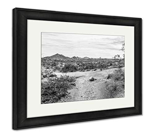 Ashley Framed Prints Papago Park in The City of Tempe Arizona in The United States of America, Wall Art Home Decoration, Black/White, 34x40 (Frame Size), Black Frame, AG6494239
