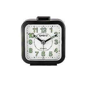 Casio TQ-141-1- Reloj despertador analógico, color negro