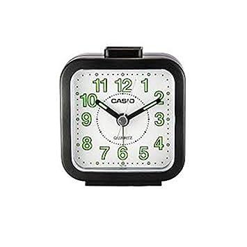 Casio TQ-141-1- Reloj despertador analógico, color negro: Amazon.es: Electrónica