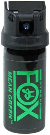 Fox Labs FX156 MGS Mean-Green 1.5 Ounce 42 Grams 6 H2OC Stream Pepper Spray