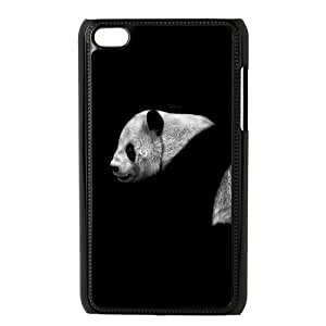 Custom Cute Panda Plastic Snap On Protection Cover Case For iPod Touch 4th Generation Hard Case