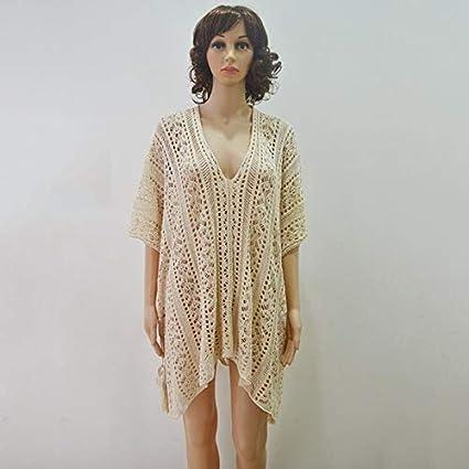 LHSTWQU Chaquetas de Crochet con Capucha de Playa Bikini con ...