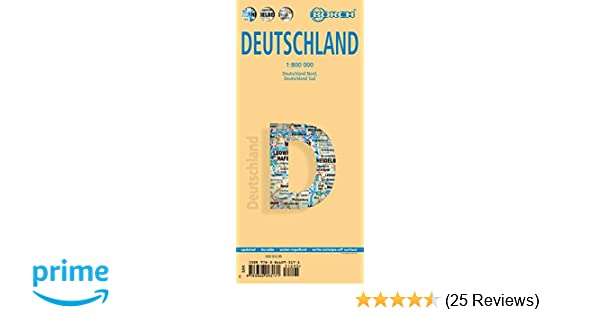 Map Of Germany To Color.Laminated Germany Map By Borch English Edition Borch