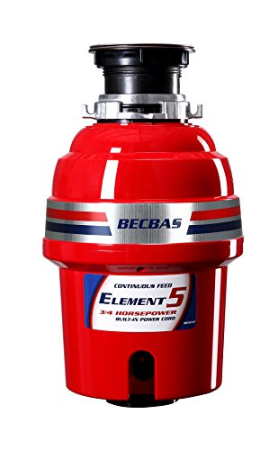 BECBAS ELEMENT 5 Garbage Disposal,3/4HP 2600 RPM Household Food Waste Disposer,With Power Cord by BECBAS