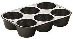 Lodge L5P3 Cast Iron Cookware Muffin/Cornbread Pan, Pre-Seasoned