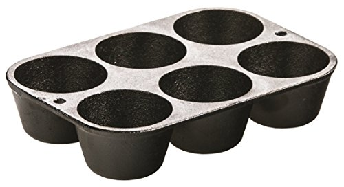 Seasoned Cast Iron Muffin Pan - Lodge L5P3 Cast Iron Cookware Muffin/Cornbread Pan, Pre-Seasoned