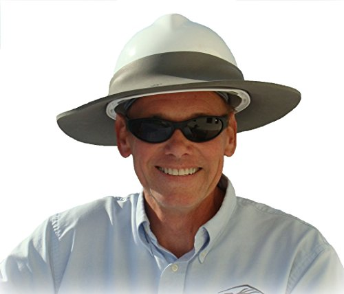 Sunbrero Softshields Hard Hat Sun Rain Visor Gray White