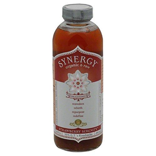 GTs Enlightened Synergy Organic and Raw Kombucha Strawberry Serenity, 16 Ounce -- 12 per case. by GTs Kombucha