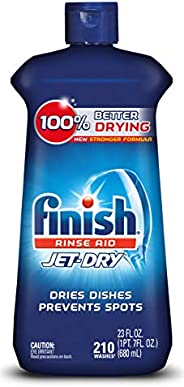 Finish Jet-Dry Aid, 23oz, Dishwasher Rinse Agent & Drying Agent, 23 Fl Oz (Pack of 1), Plum &a