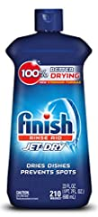 Finish Jet Dry Rinse Aid has 5x Power Actions and a Glass Protection ingredient for shinier & drier dishes vs. detergent alone. For optimal results, use with your detergents. Experience shiny dishes and spot & film protection (vs. dis...