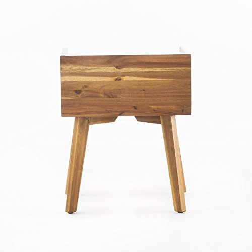 Alanna Natural Stained Acacia Wood Nightstand by GDF Studio (Image #7)