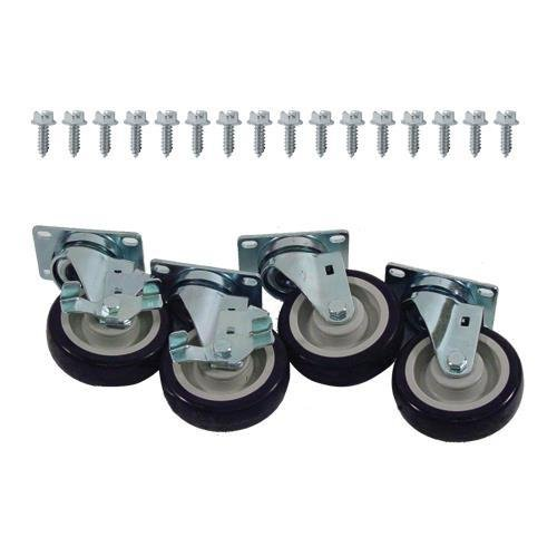 Generic 35811 Caster Set Heavy Duty Plate Mount 4'' Wheel by Generic