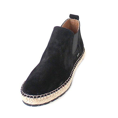 Shabbies Amsterdam WoMen Chelsea Boots Schwarz (Off Black)