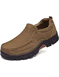 Mens Loafers Slip On Loafer Leather Casual Walking Shoes Comfortable for Work Office Dress Outdoor