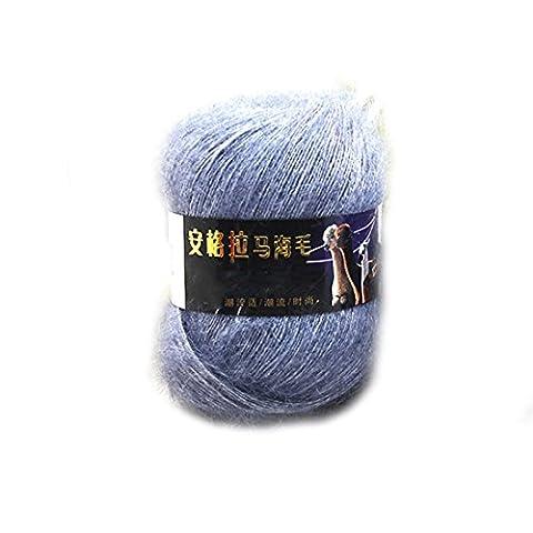 Fashion Soft Luxury Mohair Wool Knitting Yarn Sweater Scarf Knitting Wool-Grey