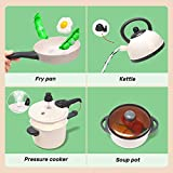 CUTE STONE Kitchen Play Toy with Cookware Playset
