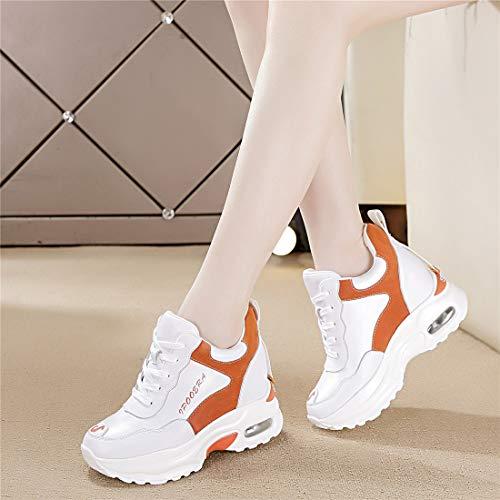 e3ce88cfe5db36 Chaussure De 9 Baskets Jogging Sneakers Gym Femmes Cm Sport Fitness  Compensées Tqgold® Orange Basses wqZtB4q