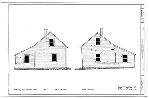 Structural Drawing HABS KANS,101-HAN.V,1- (sheet 6 of 10) - Hollenberg Pony Express Station, Route 243, 6.9 miles south of Nebraska border, Hanover, Washington County, KS 66in x 44in (Pony Express Route)