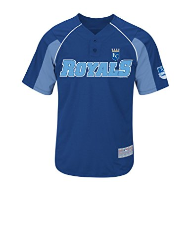 VF LSG MLB Kansas City Royals Men's Hosmer 35 Jersey, Deep Royal/Costal Blue/White, Large