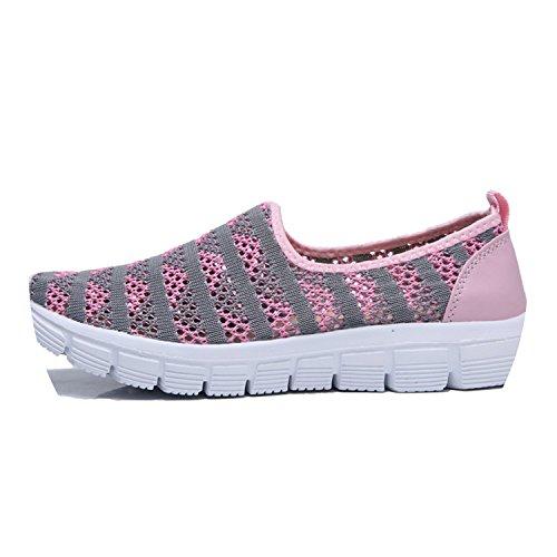 Size Flats Ladies Flats Women flat on E39 women Plus platform New Breathable blue Navy E390 Ballet Slip shoes sandals Shoes Mesh Loft 7ZPqPw0T