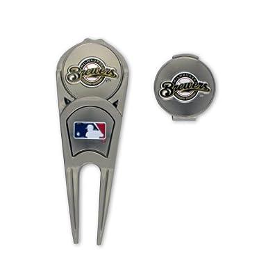 MLB Milwaukee Brewers Ball Mark Repair Tool & Hat Clip Combo