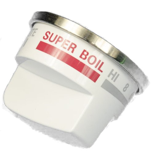 LG Electronics EBZ37189610 Gas Range Selector Knob with Super Boil, White