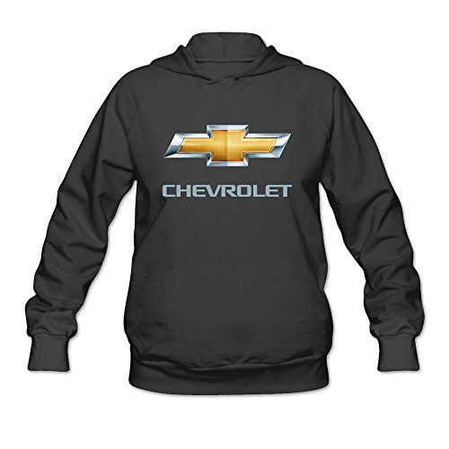 JIALE-Womens-Chevrolet-Logo-Lightweight-Hoodie-Black