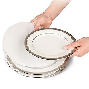 """Soft White Felt Plate Dividers 12-10"""", 24-6"""", 12-4.5"""" (Set of 48)"""