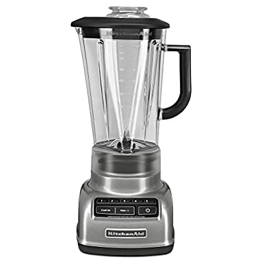 KitchenAid KSB1575CU 5-Speed Diamond Blender with 60-Ounce BPA-Free Pitcher - Contour Silver