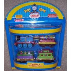 (Thomas & the Easter Train - Thomas & Friends Take Along Die-Cast Metal Vehicles 4-Pack )