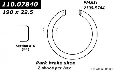 Centric (111.07840) Brake Shoe by Centric