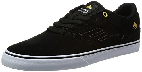 Scarpe Nero Skateboard Vulc Black Low Reynolds Uomo da The Emerica da White qfz16Iwq