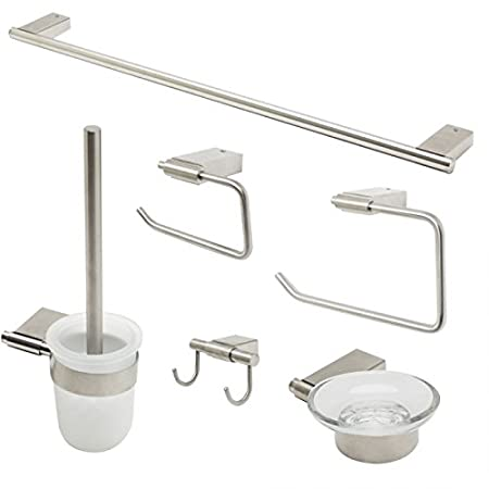 ALFI brand AB9515-PC Matching Bathroom Accessory Set (6 Piece), Polished Chrome