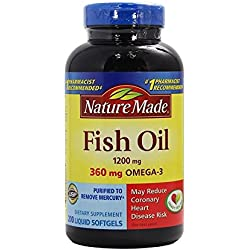 Nature Made Fish Oil 1200 Mg (360 Mg Omega-3) 200 Liquid Softgels