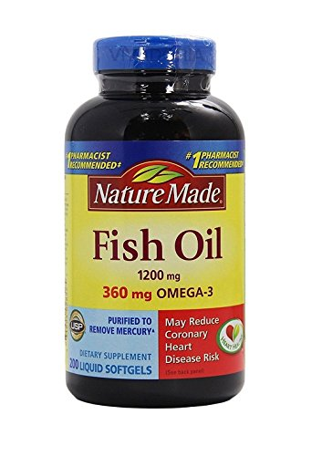 Nature Made Fish Oil 1200 Mg (360 Mg Omega-3) 200 Liquid Softgels (200 Liquid Softgels)