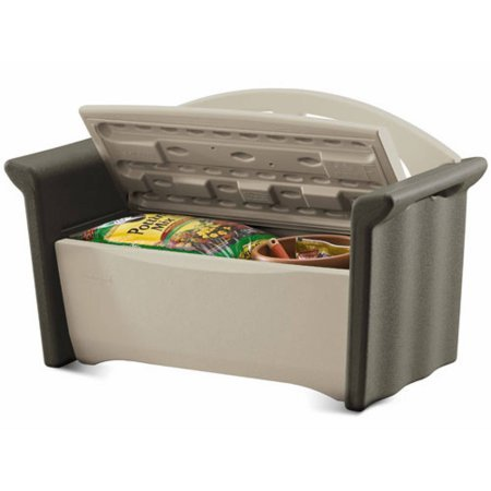 Patio Storage Outdoor Bench or Deck Durable Double-wall Construction by Rubbermaid