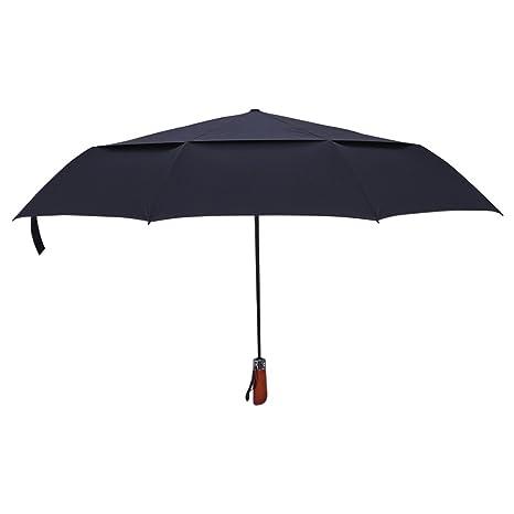Zhhlinyuan Reforzado Windproof Paraguas Plegable Grande Toldo Doble Impermeable Auto Abrir/Cerrar Paraguas Manija de