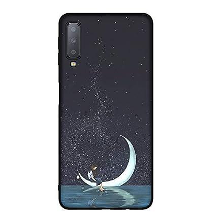 MOEVN Funda para Samsung Galaxy A7 2018 Silicona Negro ...